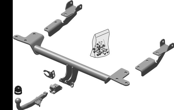 Brink detachable towbar metal door stop wedge